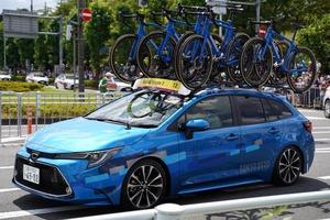 【話題】五輪 過酷な自転車競技に特殊カローラ・ツーリング 「かっこいい」の声