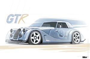 世界限定9台、未使用のプラス エイト用シャシーをベースに「モーガン プラス エイト GTR」を製造