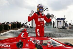 【インディカー】デトロイトを制したエリクソン、GP2以来8年ぶりの勝利に「この感覚が懐かしくてたまらない…!」
