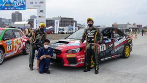 全日本ラリー第6戦 モントレー2021 スバルWRX STI鎌田/松本組 GRヤリスを僅差で破り3位