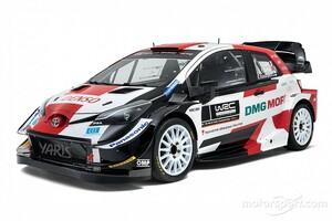トヨタ、WRCの2021年シーズンを戦うヤリスWRCの新カラーリングを発表