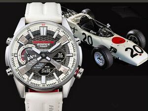 カシオ「EDIFICE」の新製品、最初のホンダ F1をオマージュした高機能メタルウオッチを発表