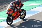 Moto3スペイン決勝:王座挑戦は間違いない? ルーキーのアコスタ驚異の3連勝。PPの鈴木は転倒リタイア