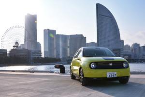 かわいらしい見た目とのギャップに大興奮!驚異の小回り性能でクイックな走りが楽しめる「Honda e」