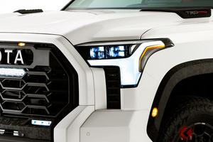 超巨大トヨタ車 新型「タンドラ」内装チラ見せ! 「TRD」で過激さ強調か!? 良好視界から何が見える?