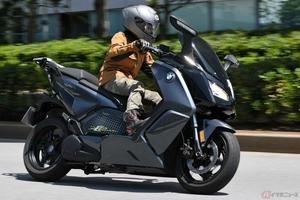 高速道路走行で見えた性能と特徴 BMWの電動バイク「Cエボリューション」を検証する
