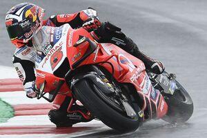 MotoGPサンマリノFP2:ウエット路面でヨハン・ザルコ躍動、大差のトップ。中上貴晶は大苦戦24番手