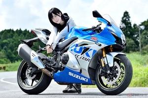 身長155cmバイク女子、夜道雪のチャレンジバイク道! スズキのスーパースポーツGSX-R1000R ABSの100周年記念カラーを初体験!! 第一印象&足つき編