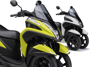 【ヤマハ】原付二種の LMW「TRICITY 125/ABS」2021年モデルに鮮やかな新色を採用し4/8に発売