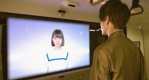 アイシン精機、自動運転バスの乗客見守る「マルチモーダルエージェント」開発 CGキャラ「Saya」が注意