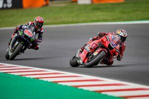 【レースフォーカス】2連勝のバニャイアに対し、ポイント差のダメージを最小限に抑えたクアルタラロ/MotoGP第14戦サンマリノGP