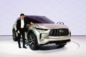 日産、インフィニティ「QX60」の次期デザインを公開 量産モデルは2021年