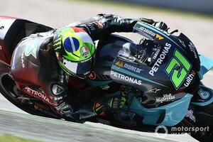 MotoGPカタルニア予選:ヤマハヤマハヤマハ! モルビデリ初ポール&クアルタラロ&ロッシ3番手フロントロウ