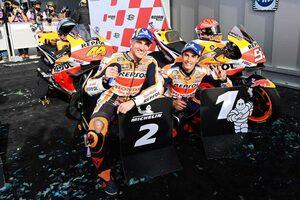M.マルケス、右回りのサーキットでの優勝は「ひとつの目標だった」/MotoGP第16戦エミリア・ロマーニャGP決勝トップ3コメント
