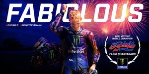 【ヤマハ】ファクトリー加入1年目の快挙! ファビオ・クアルタラロ選手が MotoGP クラスのタイトルを獲得