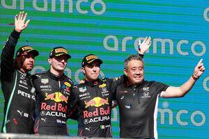 戦略バッチリでF1アメリカGP制覇。ホンダ田辺豊治TD「レッドブル・ホンダとして、チーム力を発揮できた」
