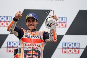 復帰後初優勝を飾ったM.マルケス「ミック・ドゥーハンとの30分の会話が手助けになった」/MotoGP第8戦決勝トップ3コメント