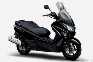 スズキが新型「バーグマン200 ABS」を発表! ABS標準装備でさらに安全で扱いやすいスクーターへ