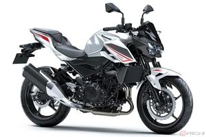 カワサキ「Z400」2022年モデル発売 新グラフィックとともに清潔感のあるホワイト×グレーを追加