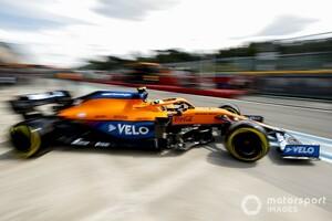 フェラーリの速さは「驚きではなかった」と語るノリス。マクラーレンとイモラの相性は微妙?|F1エミリア・ロマーニャGP