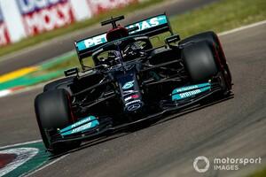 F1エミリア・ロマーニャGP予選:息を呑む僅差のアタック合戦をハミルトン制す。ペレスがフロントロウ、角田は無念の20番手
