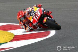 【MotoGP】マルク・マルケス、9ヵ月ぶり復帰初日に驚きの6番手。「予想より良い。腕がどう反応するかが鍵」|ポルトガルGP