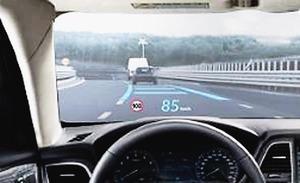JVCケンウッド、ヘッドアップディスプレーの二重像を軽減する新技術 特殊ガラス不要でコスト抑制