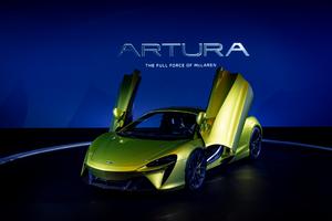 マクラーレン初のシリーズ生産ハイパフォーマンスハイブリッドスーパーカー「Artura」が日本初公開