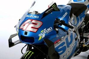 "【MotoGP】スズキ、""モンスター""付きの2021年型GSX-RR公開。ジョアン・ミルが王座防衛目指す"