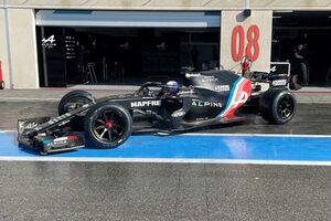 ピレリ、今季予定した18インチF1タイヤテストを完了。最終日はアルピーヌのクビアトが走行