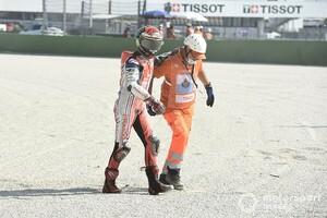 【MotoGP】転倒で初優勝はお預けに。フランチェスコ・バニャイヤ、原因は路面の汚れと推察