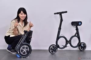 『小野木里奈の○○○○○日和』は、折りたためる電動バイク「スマサークルS1」の試乗会に参加しました