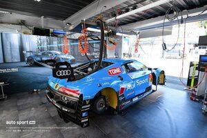 スーパーGT第5戦SUGOでクラッシュのTeam LeMans Audi R8 LMS、決勝に向け復活