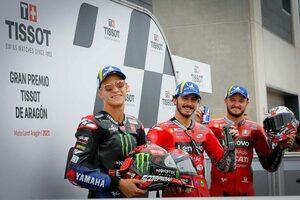 今季2度目のポール獲得のバニャイア「走り出しからバイクのフィーリングがよかった」/MotoGP第予選トップ3コメント