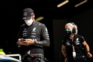 ハミルトン、スタート失敗で5番手「マクラーレンをどうしても抜けなかった」メルセデス/F1第14戦スプリント予選