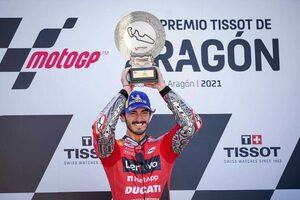 MotoGP第13戦アラゴンGP:バニャイアが最高峰クラスで初優勝。最終ラップまで続いたマルク・マルケスの猛攻を退ける