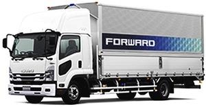 いすゞ、中型トラック「フォワード」改良 安全機能を拡充