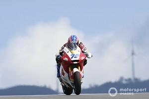 """〈アジアから""""世界""""へ〉小椋藍とIDEMITSU Honda Team Asiaの挑戦:期待の予選4番手も……Moto2初転倒リタイアに小椋「もったいないレース」"""