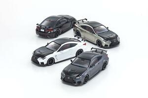 京商モデルカーの最新作「レクサスRC F」が43分の1スケールで発売! 高性能バージョンをモデル化