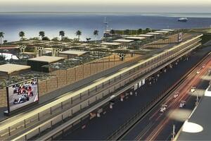 F1サウジアラビアGP、ピットビルのイメージを初公開「コースと周辺の景色に調和」