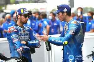 【MotoGP】タイトル懸かるスズキ、チームオーダー発動はない? ランキング首位ジョアン・ミル「チャンスの残るリンスに対して公平じゃない」