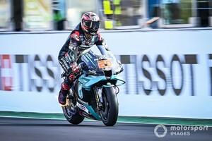 "【MotoGP】「バトルで勝てないのは""最高速""の遅さが原因」ヤマハM1の問題点指摘するクアルタラロ"