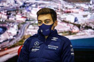ラッセル、思い切ったドライタイヤ交換で3番手獲得「ピットレーンでクラッシュ寸前だった」|F1ロシアGP