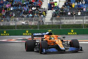 またもマクラーレンが躍動……ランド・ノリス、自身初PP獲得「かなりのリスクを冒した」|F1ロシアGP