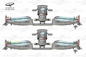 F1メカ解説|メルセデス、新仕様ウイングをフリー走行でテスト。低ダウンフォースのレースで実戦投入?