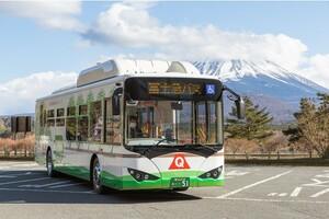 電気バスで環境に貢献する!!山梨県都留市と富士急行が 連携協定を締結!!