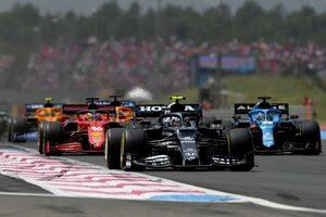 ガスリー、ノリスとのバトルは「風のせいでマシンをコース上に留めるのも難しかった」と振り返る/F1第7戦