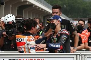 【MotoGP】ドイツGP3位のクアルタラロ、マルケス優勝には脱帽「祝福したい。彼のような男から学びたいよ」