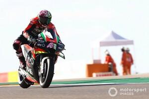 """【MotoGP】アレイシ・エスパルガロ、アプリリア今期型の""""限界""""にブチ当たる。「ポジティブになるのも難しい」"""