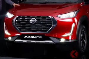 日産新ロゴ採用! 小型SUVの新型「マグナイト」世界初公開 タフ顔採用で2021年初頭に発売
